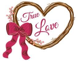 True Love Wreath embroidery design