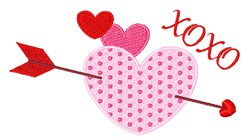 XOXO Heart embroidery design