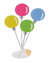 Baby Balloons embroidery design