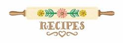 Recipes embroidery design