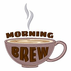 Morning Brew embroidery design