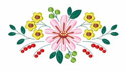 Floral Flower  embroidery design