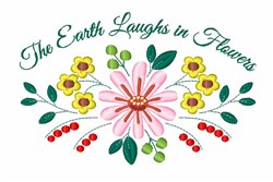 Earth Laughs embroidery design