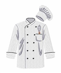 Chef Jacket embroidery design