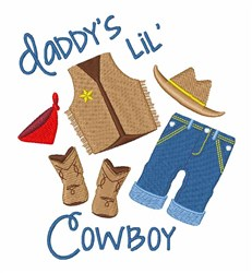 Daddys Cowboy embroidery design