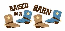 Barn Raised embroidery design