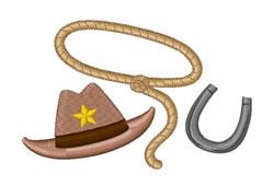Hat Lasso Horseshoe embroidery design