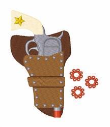 Cap Gun embroidery design