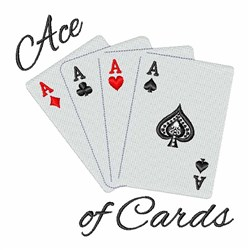 Ace Of Cards embroidery design