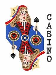 Casino embroidery design