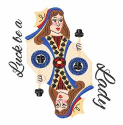 Luck Lady embroidery design