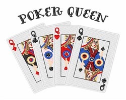 Poker Queen embroidery design