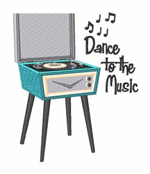 Dance To Music embroidery design