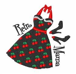 Retro Mama embroidery design