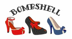 Bombshell embroidery design