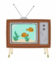 TV Aquarium embroidery design