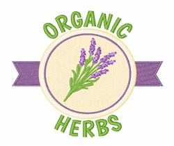 Organic Herbs embroidery design