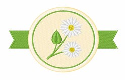 Chamomile Flower embroidery design
