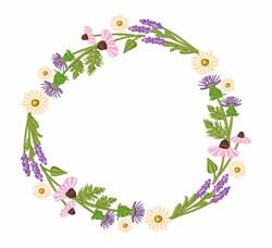 Wildflower Wreath embroidery design