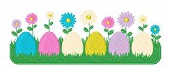 Eggs Flower Border embroidery design