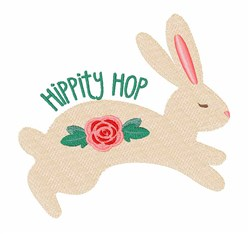 Hippity Hop embroidery design