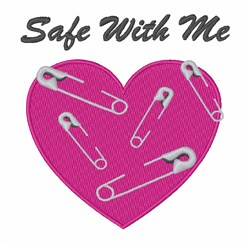 Safe With Me embroidery design