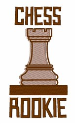 Chess Rookie embroidery design