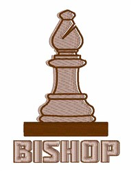 Chess Bishop embroidery design
