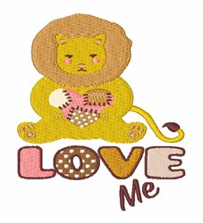 Love Me Lion embroidery design