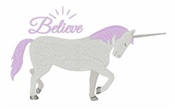 Unicorn Believe embroidery design