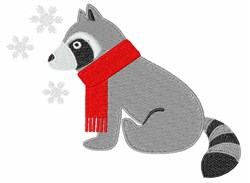 Winter Raccoon embroidery design