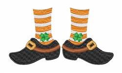 Leprechaun Feet embroidery design