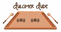 Dulcimer Dude embroidery design