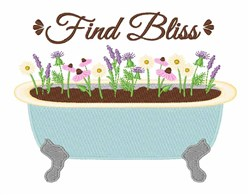 Find Bliss embroidery design