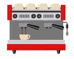 Espresso Machine embroidery design