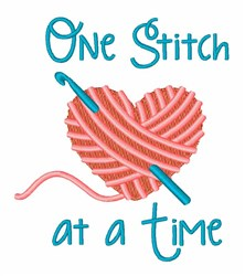 One Stitch embroidery design