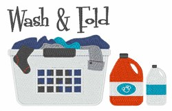 Wash & Fold embroidery design