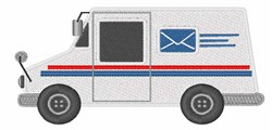 Mail Truck embroidery design