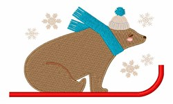 Sled Bear embroidery design