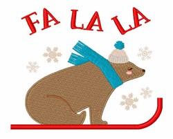Fa La La Bear embroidery design