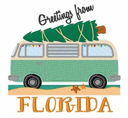Florida Greetings embroidery design