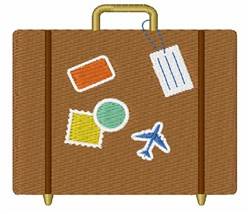 Travel Luggage embroidery design
