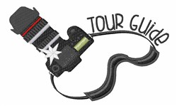 Tour Guide embroidery design