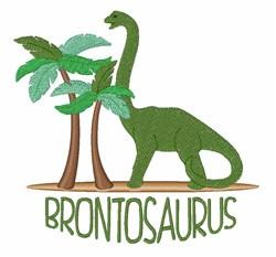 Brontosaurus Dinosaur embroidery design