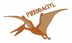 Pterodactyl embroidery design