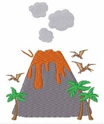 Prehistoric Volcano embroidery design