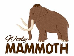 Wooly Mammoth embroidery design
