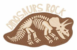 Dinosaurs Rock embroidery design