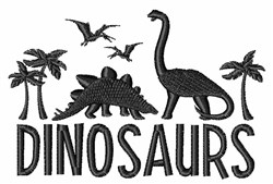 Dinosaurs embroidery design