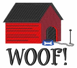 Dog House Woof embroidery design